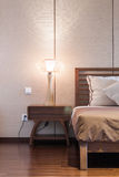 Bed en slaapkamer Stock Afbeeldingen