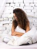 bed flickan Royaltyfria Bilder