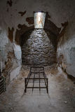 Bed frame in a prison cell. Prison cell in Eastern State Penitentiary Stock Image