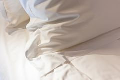 Bed with fresh linen Royalty Free Stock Image