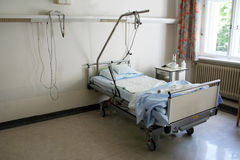 Bed in Hospital Stock Image