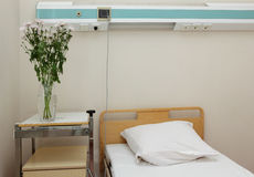 Bed in the hospital Stock Photo