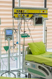 Bed hospital equipment Stock Image