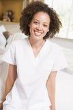 bed hospital nurse sitting στοκ εικόνα