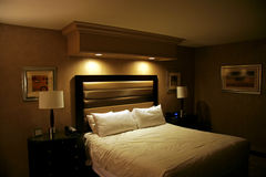 bed hotel Στοκ Φωτογραφίες