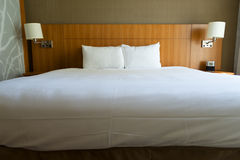 Bed in hotel. Stock Photography