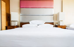 Bed in hotel Stock Photography