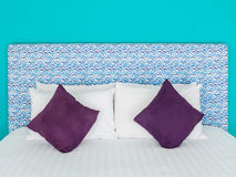 Bed in a hotel or resort room Royalty Free Stock Image
