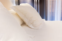 Bed in Hotel room Royalty Free Stock Photo