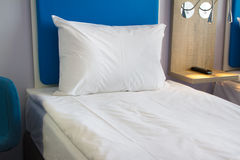 Bed in a hotel room Royalty Free Stock Photo