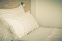 Bed in Hotel room Royalty Free Stock Images