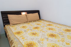 Bed in a hotel room , Thailand Royalty Free Stock Photo