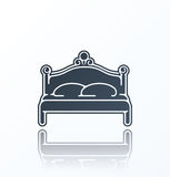 Bed Icon on white background. Stock Photography