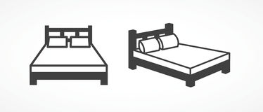 Bed icons Stock Photo