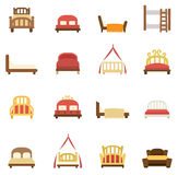 Bed icons  Royalty Free Stock Photo
