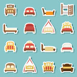 Bed icons vector Stock Photo