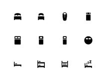 Bed icons on white background Royalty Free Stock Photo