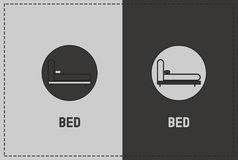 Bed Illustration. A clean and simple bed illustration Royalty Free Stock Photos