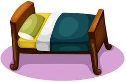 Bed. Illustration of bed on white background stock illustration