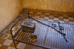 Free Bed In A Cell In Tuol Sleng  (S21) Prison Royalty Free Stock Image - 41483306