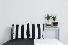 Bed, kussens, en installaties stock foto's