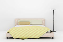 Bed and lamp Royalty Free Stock Images