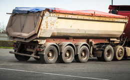 The bed of a large industrial truck Royalty Free Stock Photo