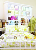 Bed linen boutique. Boutique of bed linen, towels and dressing gowns Royalty Free Stock Photo
