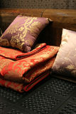 Bed linen - home interiors Stock Image