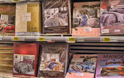 Bed linen shop Royalty Free Stock Photography
