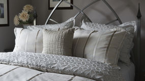 Bed Linens and Pillow Shams Royalty Free Stock Photography