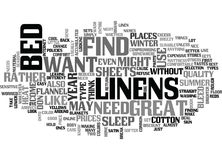 Bed Linens Word Cloud. BED LINENS TEXT WORD CLOUD CONCEPT Royalty Free Stock Photography