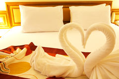 Bed of love. Room with a bed of love Royalty Free Stock Image