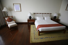 Bed in luxury hotel Royalty Free Stock Images