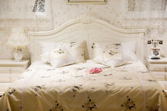 Bed in a luxury  room Royalty Free Stock Photo