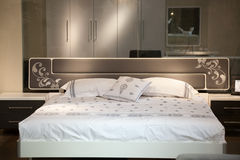 Bed in a luxury  room Royalty Free Stock Image