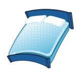Bed mattress. Blue bed mattress illustration Royalty Free Stock Photos