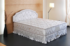 Bed mattress pad. In a bedroom Royalty Free Stock Photography