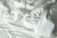 Bed messy Royalty Free Stock Images