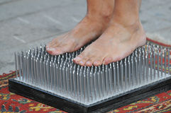 Bed of nails royalty free stock photo
