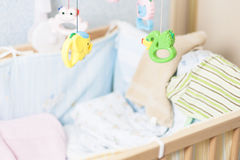 Bed of a newborn Royalty Free Stock Images