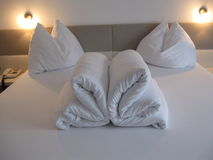 Bed origami Stock Image