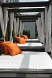 Bed outdoor. The bed outdoor of asia Royalty Free Stock Photography