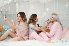 Bed party Stock Photos