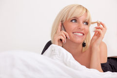 Bed phone Royalty Free Stock Photo