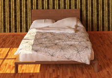 Bed Photorealistic Render Stock Photography