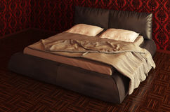 Bed Photorealistic Render Royalty Free Stock Photo