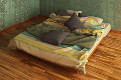 Bed Photorealistic Render Royalty Free Stock Photography