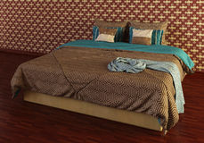 Bed Photorealistic Render Royalty Free Stock Photos