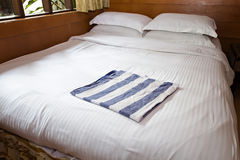 Bed and pillow set Royalty Free Stock Photos